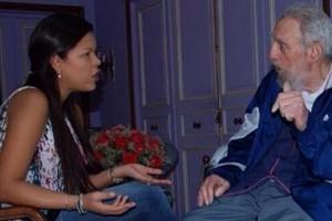 María Gabriela Chávez fue a visitar a su abuelo, el papá de Chávez, quien a su vez en el bisabuelo de Maduro ¡Qué enredo!