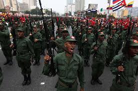 Las milicias castrocomunistas venezolanas con seguridad desfilarían en el supuesto Mundial de Fútbol en Venezuela